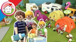 Playmobil en francais Chąos au camping - La famille Hauser