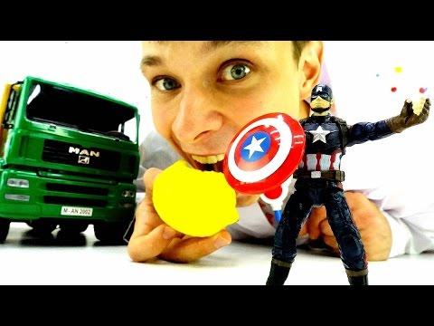 Первый Мститель Капитан Америка в больнице! Игрушки для мальчиков. Лечим простуду. Видео игры доктор