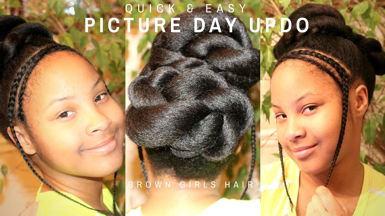 Easy Hairstyle For Tweens Natural Hair Kids Youtube