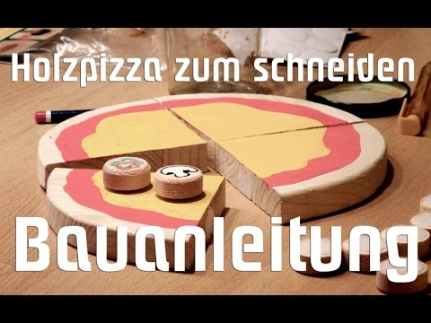kinderk che spielk che holzpizza zum schneiden selber bauen anleitung youtube. Black Bedroom Furniture Sets. Home Design Ideas