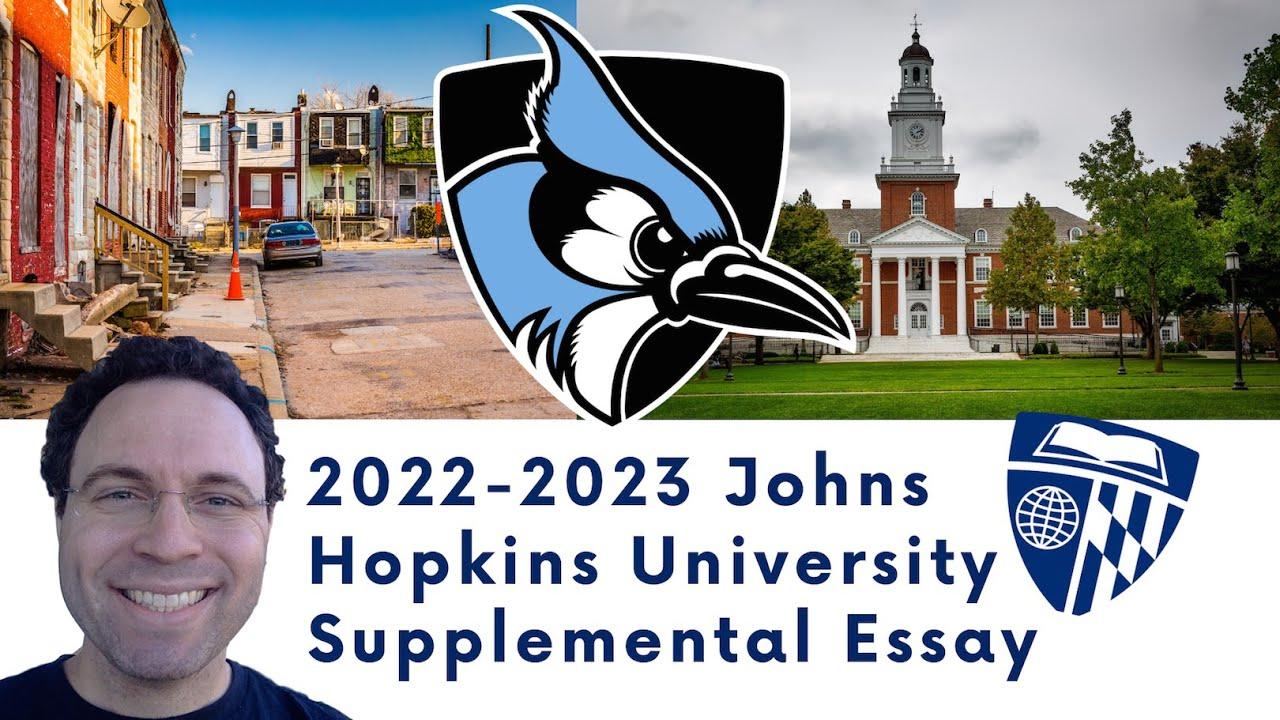 Johns Hopkins Supplemental Essay