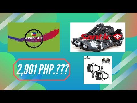 UNBOXING   Santic Cycling Shoes   RockBros SPD-SL Road Bike Pedal (Tagalog)
