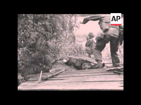 CAN907 US SOLDIERS HIT BY VIETCONG BOOBY TRAP