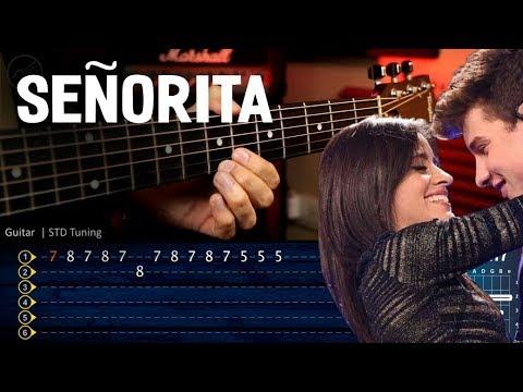 seÑorita---shawn-mendes,-camila-cabello-guitar-tutorial- -cover-guitarra-chrstianvib