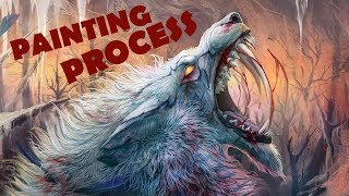 Roaring beast - Digital painting - Part 2 screenshot 3