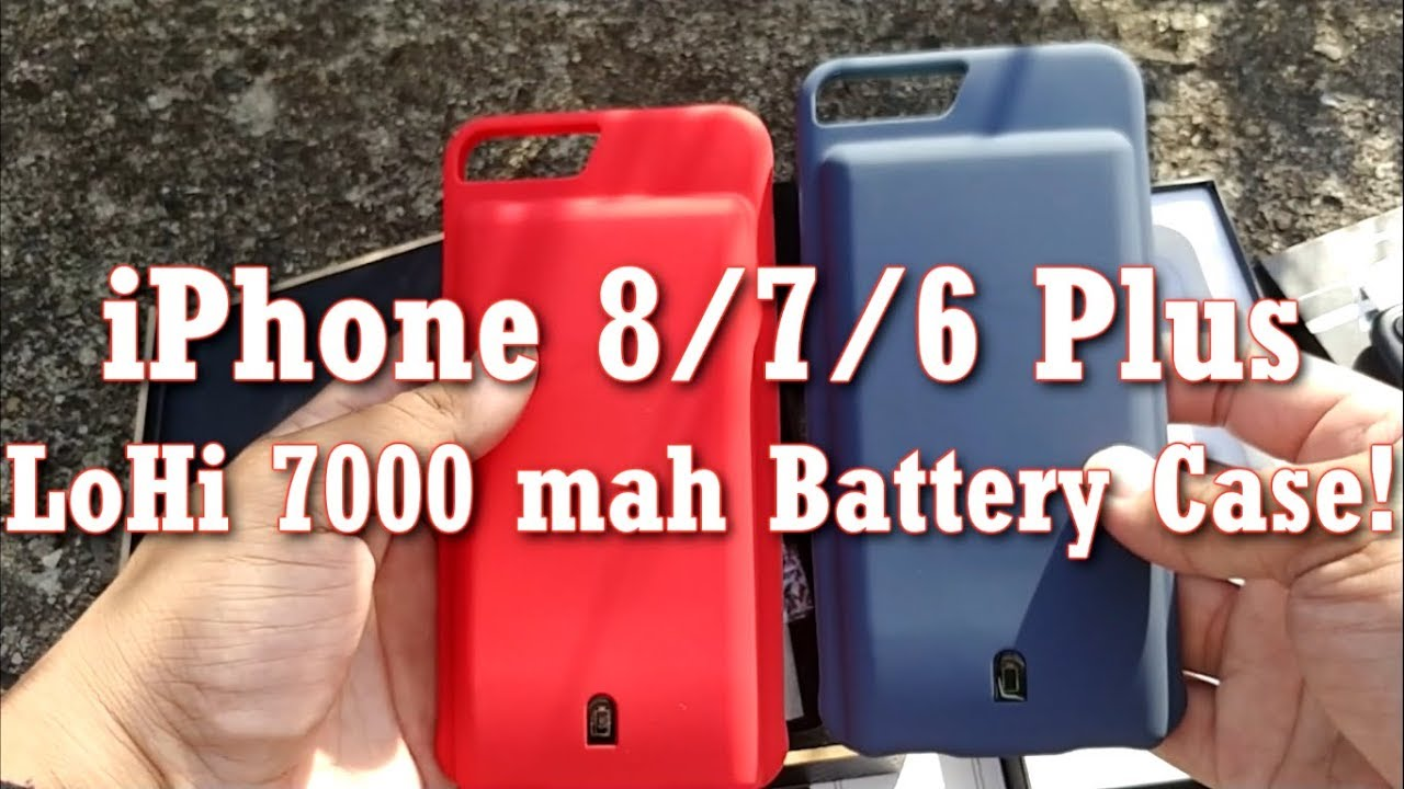 super popular f9da3 4be34 iPhone 8/7/6 Plus LoHi 7,000 mah Battery Case! - YouTube