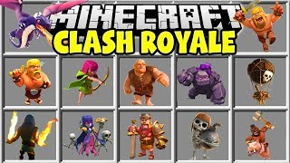 Minecraft CLASH ROYALE MOD | BARBARIANS, WIZARDS, GOLEMS, GIANTS & MORE!!