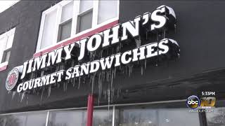 Jimmy John's braving the cold for deliveries