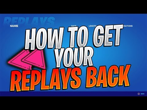 How To Get Your Replays Back In Fortnite!  (How To FIX Your Replays Not Showing Up In Fortnite)
