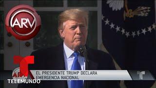 Trump declara estado de emergencia nacional en EE.UU.   Al Rojo Vivo   Telemundo