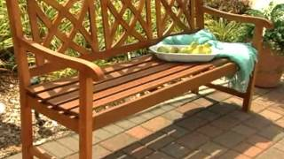 Magnolia 5 Ft Wood Garden Bench - Product Review Video