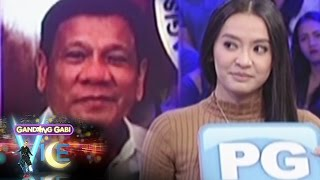 "GGV: Mocha rates President Duterte as ""SPG"""