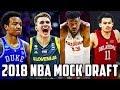 2018 NBA Mock Draft 1.0