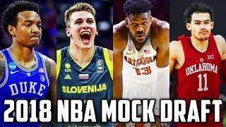 2018 NBA Mock Draft 1.0