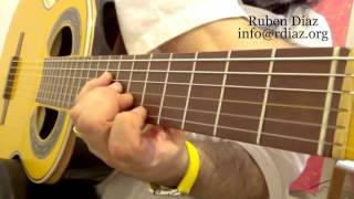 Stretching left hand exercises 2 / Learning Paco de Lucia´s technique online / Ruben Diaz lessons