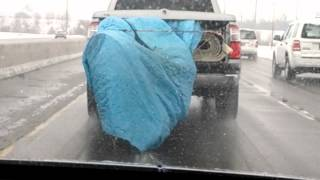 Random Fail Video: Dragging New Carpet On Road