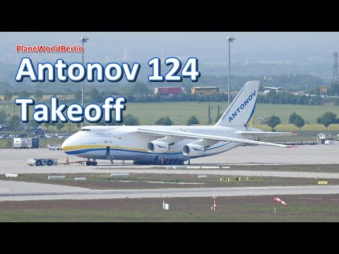 Antonov Airlines An-124 takeoff from Leipzig LEJ [UR-82008]