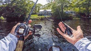 Unexpected BIG FISH In Sleeper Lake || 50 State Fishing Tour (Chebacco MA)