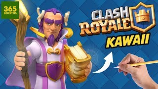Download Como Dibujar A El Rey De Clash Royale Estilo Kawaii Videos