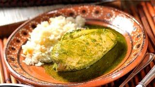 Pechugas De Pollo En Salsa De Cilantro - Chicken Breast In Cilantro Sauce