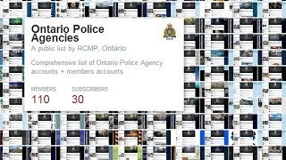 Ontario Police Agencies on Twitter by the Royal Canadian Mounted Police