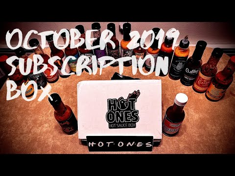 Hot Ones October 2019 Subscription Box with THE LAST DAB XXX
