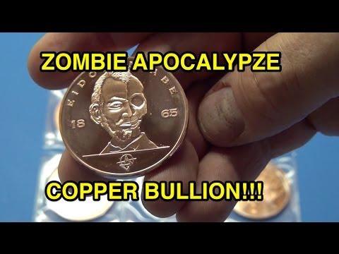 Zombie Apocalypze Copper Bullion Rounds!