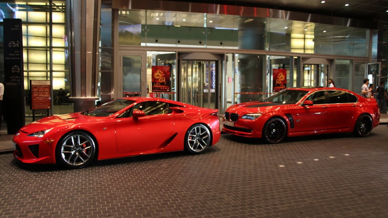 BMW 7 Series Red Devil With Massive Bodykit And 22 Asanti Wheels Lexus LFA
