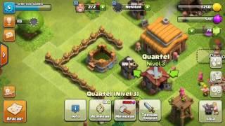 Clash of Clans #02- Centro da Vila nível 3 e quartel nível 3