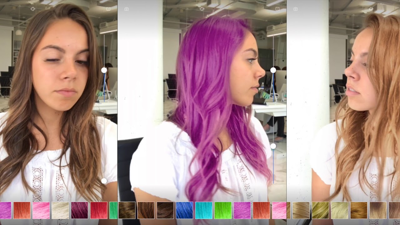 Modiface 3d Real Time Video Hair Coloration Demo Youtube