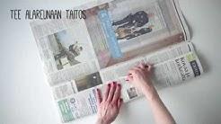 Näin onnistut: Taittele sanomalehdestä biojätepussi