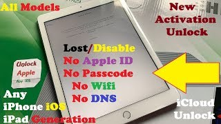 Unlock iCloud Activation Lock✔ Without Apple ID/DNS/WIFI/Tool✔ All Models iPad/iPhone iOS✔