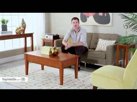 Turner Lift Top Coffee Table Oak Product Review Video