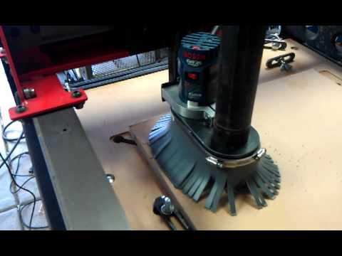 Cnc Router Dust Shoe Youtube
