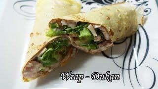 Dieta Dukan: Receita Wrap de Frango