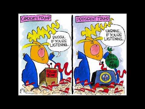 Image result for cartoon trump ukraine impeachment
