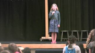 alexis almost 8 sings star spangled banner