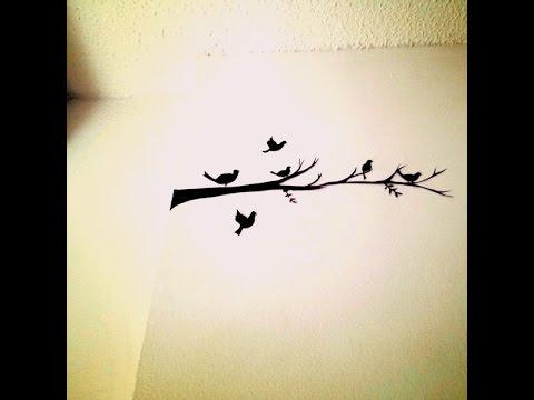 Wall Art Birds wall art birds tutorial - youtube