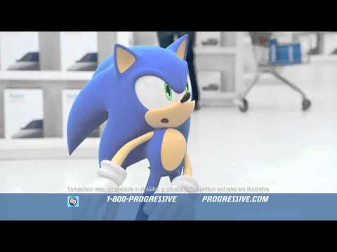 Progressive Insurance - Sonic The Hedgehog