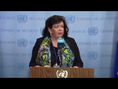 Karen Pierce (United Kingdom) on the Situation in Syria - SC Media Stakeout (14 April 2018)
