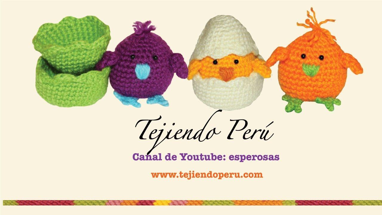 Pollitos tejidos en crochet (amigurumi) Parte 1 - YouTube