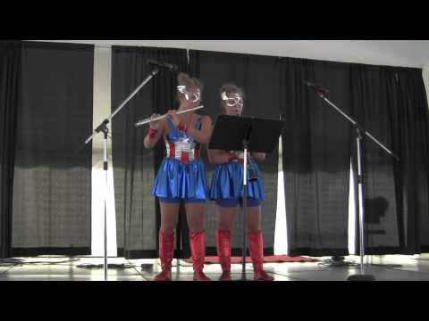 Flight of the Bumblee (flute and clarinet) - Twins Days Talent Show