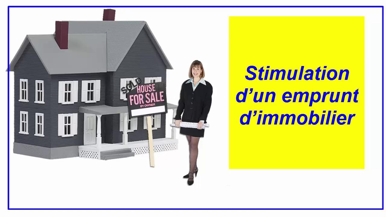 # 015 Trucs d'excel : Tableau de stimulation d'un emprunt immobilier - YouTube