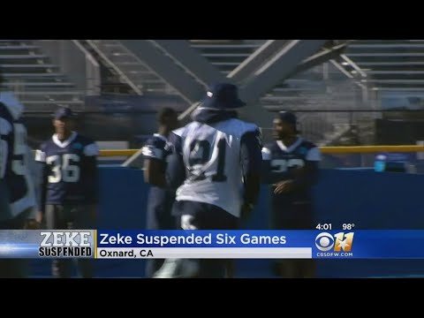 Cowboys RB Ezekiel Elliott Suspended For Six Games