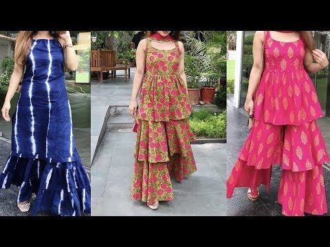 Top 10 Designer Sharara Garara Designs Youtube