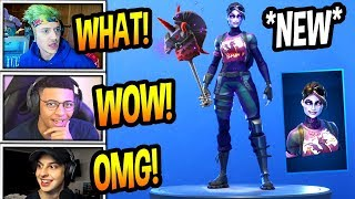 "STREAMERS REACT TO *NEW* ""DARK BOMBER"" SKIN! *RARE* Fortnite FUNNY & SAVAGE Moments"