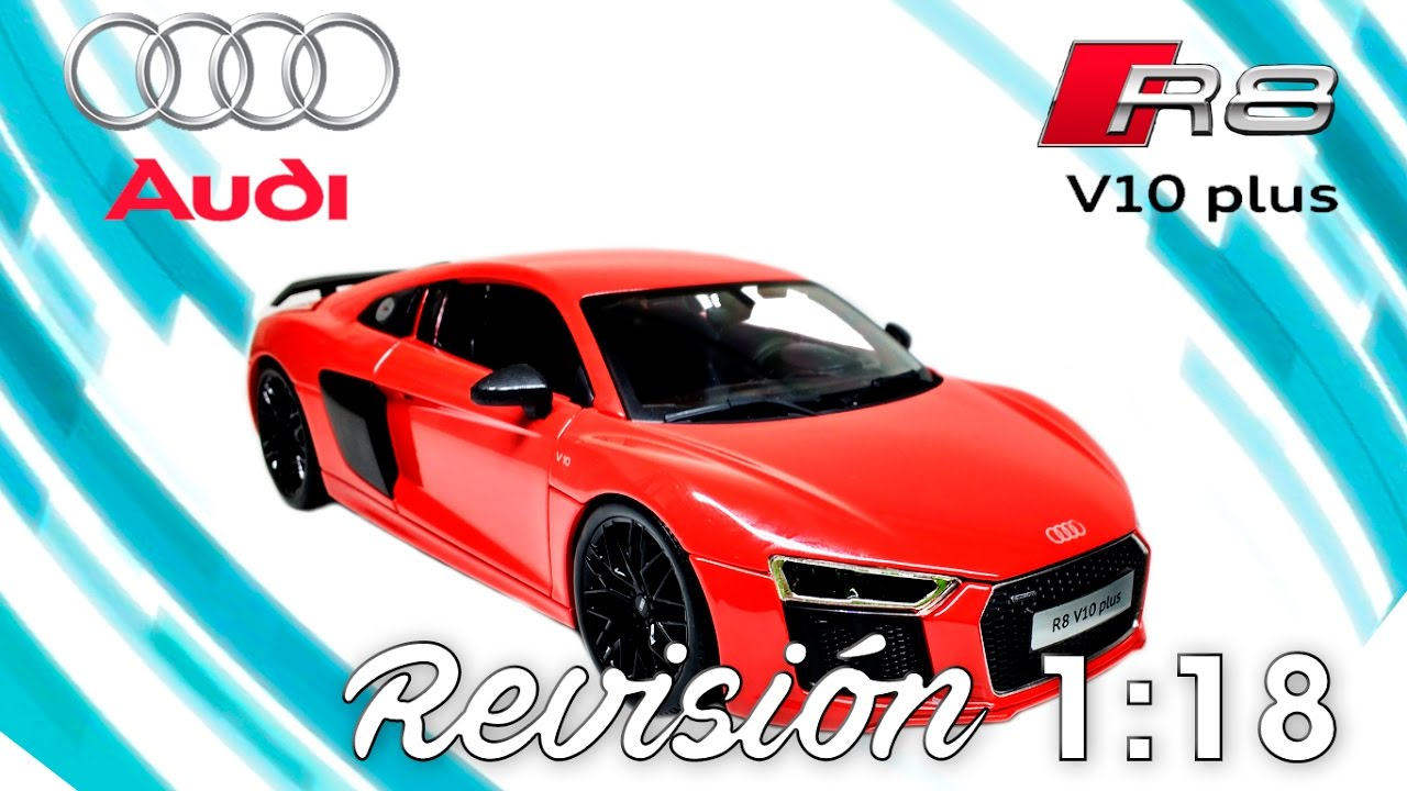 18 Revisión Audi V10 R8 PlusDe 1 Maisto JlKTF1c