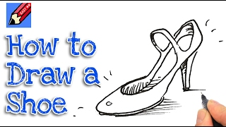 how to draw high heeled shoes real easy for kids and beginners