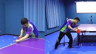 横拍逆旋转发球教学:发出逆上旋、逆下旋关键!发球线路如何控制
