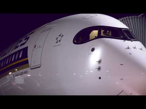 Inaugural Non Stop A350 Flight from Singapore to Moscow | Singapore Airlines